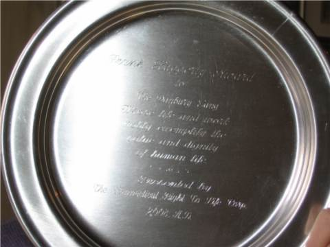 Our Pewter Plate