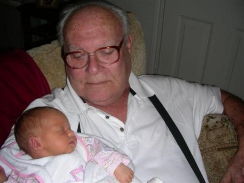 Kaylin and Greatgrandpop Dwight